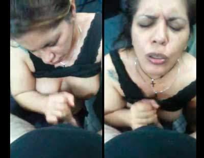 """""""¡AY DAME LECHE!"""" TETONA MADURA ARGENTINA TATUADA CHUPANDO PIJA"""