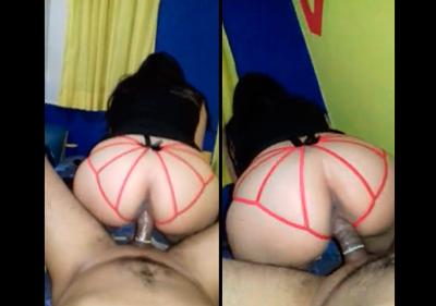 NOVIA MEXICANA EN SEXY TANGA ROJA DANDOSE SUS SENTONES